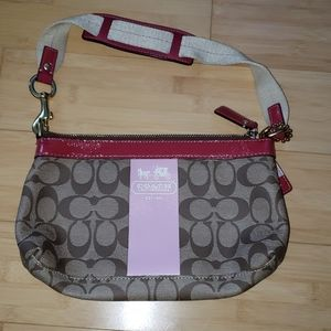 Coach Purse with Pink Stripe
